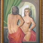 Filomena Ušinskaitė. Moteris prieš veidrodį. 1999.